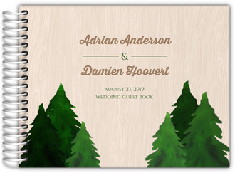 Rustic Pine Tree Wedding Guest Book
