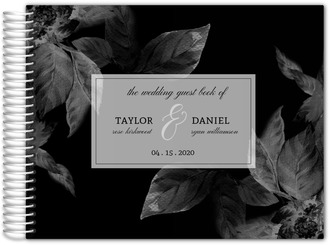 Midnight Foliage Wedding Guest Book