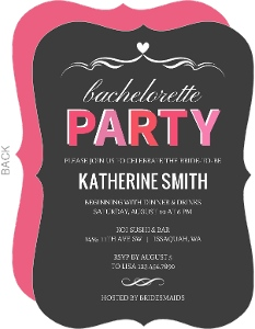Pink and Gray Bachelorette Party Invitation