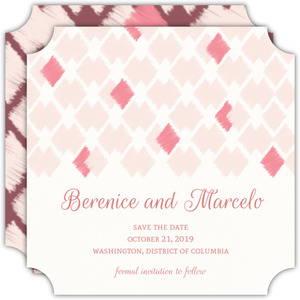 Plum and Silver Save The Date