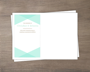 Rustic Woodgrain & Mint Envelope