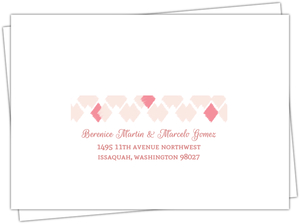 Blush Ikat Pattern Wedding Response Envelope