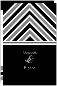 Modern Stripe Wedding Program