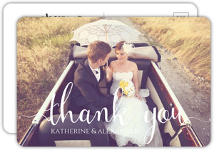 Couple Photo Thank You Postcard