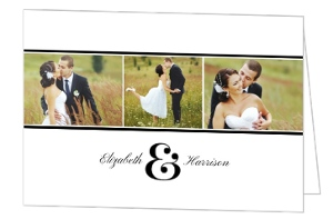 Photo Strip Wedding Thank You Card