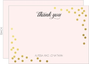Faux Foil Confetti Wedding Thank You Card