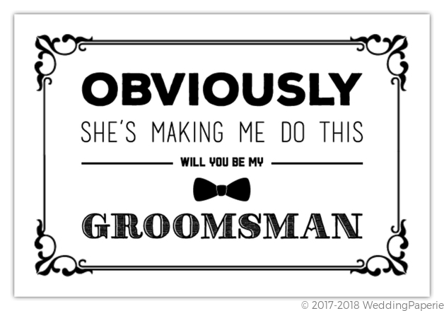 Making me do this will you be my groomsman card will you be my making me do this will you be my groomsman card junglespirit Image collections