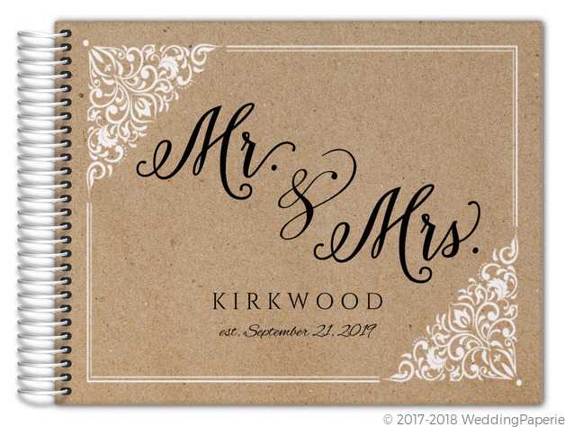 kraft mr and mrs frame wedding guest book - Mr And Mrs Frame
