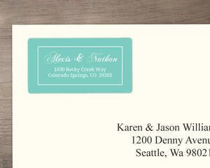 Seaside Blue and White Address Label