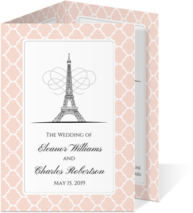Parisienne Rose Trifold Wedding Invitation