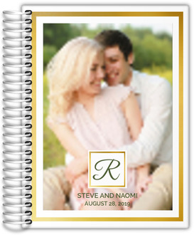 Gold Frame Photo Wedding Planner
