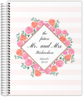 Watercolor Peonies Frame Wedding Planner