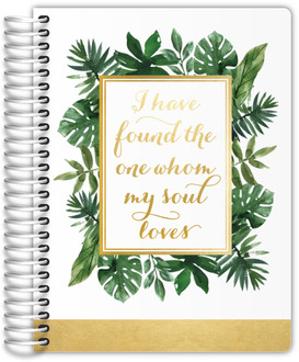 Faux Gold Foil Greenery Frame Wedding Planner