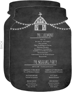 Rustic Barn Chalkboard Wedding Program