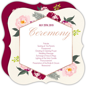 Floral Boho Wedding Program