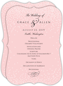Pink Confetti Wedding Program