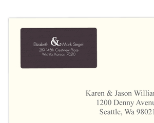Plum and Sage Address Label