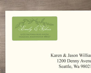 Delicate Foliage Decor Address Label