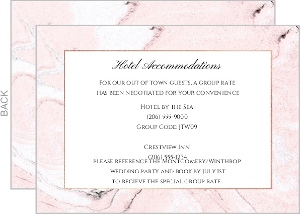Faux Rose Gold and Blush Marble Enclosure Card