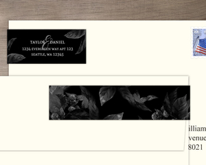 Midnight Foliage Address Label