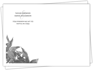 Midnight Foliage Envelope