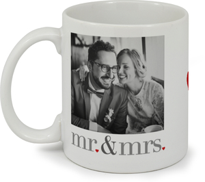 Heart Mr and Mrs Mug