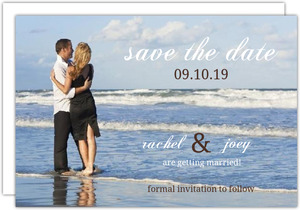 Simplistic Photo Save The Date