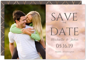 Elegant Gold And Blush Save The Date