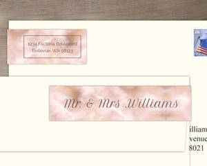 Elegant Gold And Blush Address Label
