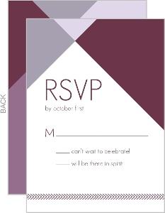 Modern Geometric Lavender Wedding Response Card