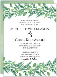 Foliage Garland Wedding Invitation