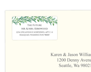 Foliage Garland Address Label