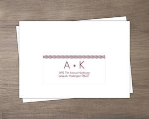 Modern Geometric Lavender Wedding Response Envelope
