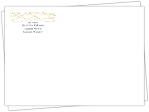 Gold Hanging Lights Custom Envelope