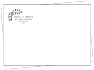 Modern Frame Greenery Custom Envelope