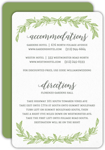 Delicate Foliage Decor Wedding Enclosure Card
