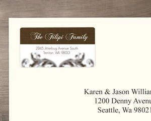 Elegant Textured Brown Address Label
