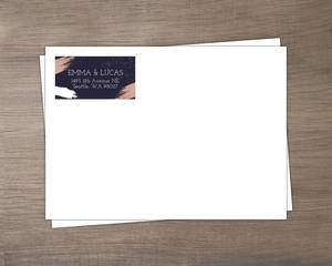 Faux Rose Gold Paintstroke Custom Envelope