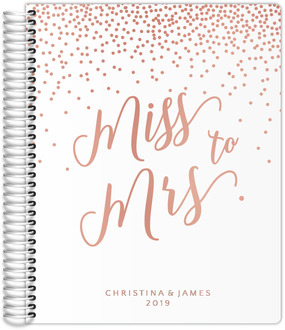 Miss To Mrs Confetti Real Foil Wedding Planner