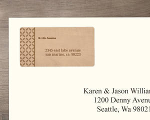 Rustic Woodgrain Floral Address Label