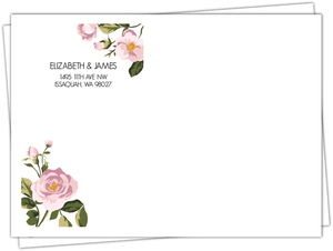 Soft Pink Flowers Envelope