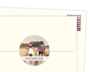 Save The Date Photo Envelope Seal