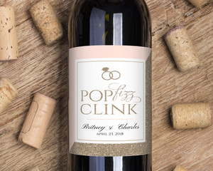 Glitter Pop Fizz Clink Wine Label