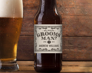 Vintage Groomsman Beer Label