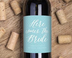 Here Comes The Bride Wine Label