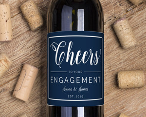 Simple Border Cheers Wine Label