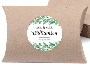 Foliage Garland Wedding Favor Label
