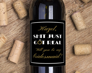 Elegant Just Got Real Wine Label