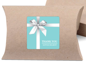 Elegant Teal Gift Bridal Shower Favor Label