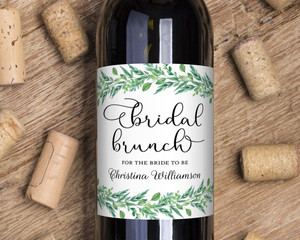 Foliage Garland Wine Label